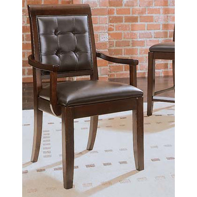 American Drew Upholstered Leather Arm Chair