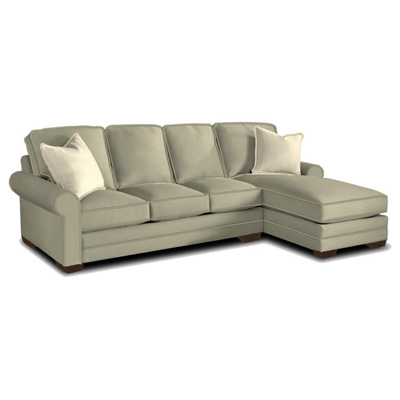 Bassett 5000 usectf custom upholstery sectional large u for Bassett sectional sofa with chaise