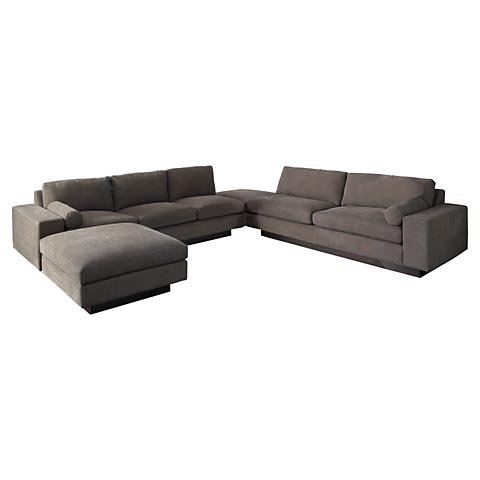 Bassett 2101 cl modern comfort chaise discount furniture for Bassett sectional sofa with chaise