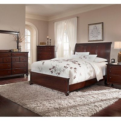 Broyhill 4647 Sleigh Bed Hayden Place Dark Cherry Sleigh Bed Discount Furniture At Hickory Park