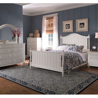 Broyhill 4649 panel bed hayden place white panel bed for Places to get cheap couches