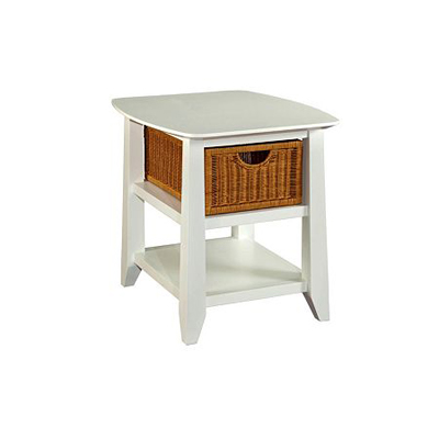 Broyhill End Table White Finish