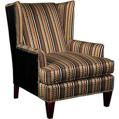 Broyhill Chair Brass Nailhead Trim