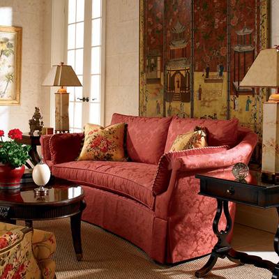 Century 22 610 century signature foxglove sofa discount for Affordable furniture on 610