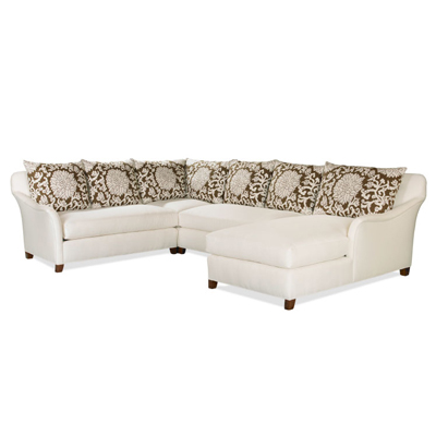 Century Marin Laf Skirted Love Seat