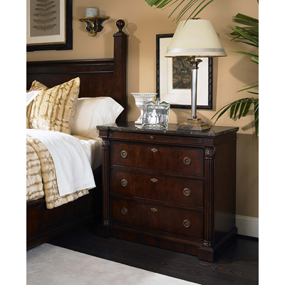 Century Nightstand with Marble Top
