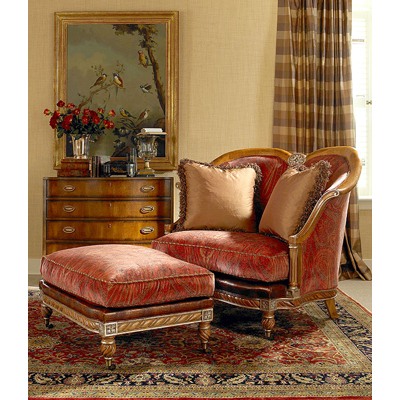 Century 3313o Century Chair Woodbury Ottoman Discount Furniture At Hickory Park Furniture Galleries