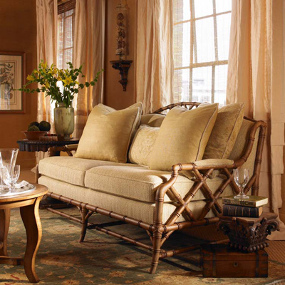Century Royal Palm Settee