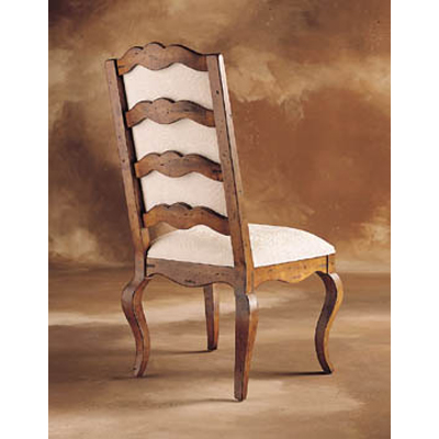 Century Upholstered Ladderback Side Chair