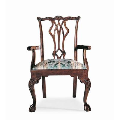 Century Pierced Back Arm Chair