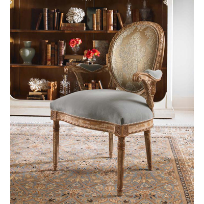 Century Upholstered Back Chair