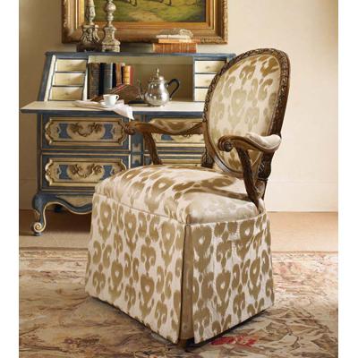 Century Skirted Upholstered Back Chair