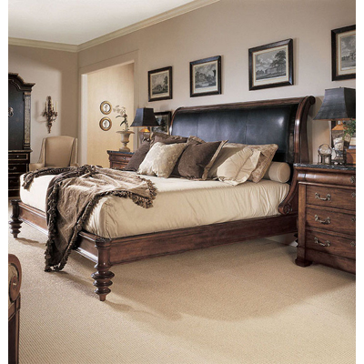 Century Napoleon Bed with Upholstery Standard King
