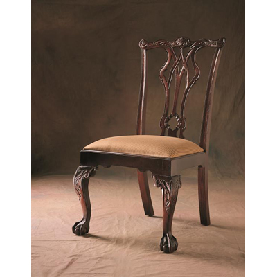 Century Pierced Back Ball and Claw Side Chair