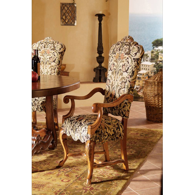 Century Upholstered Back Arm Chair
