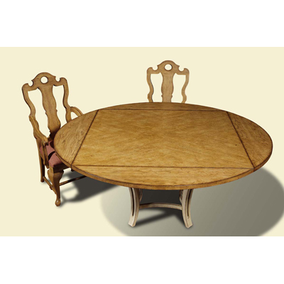 Century Square To Round Wood Dining Top