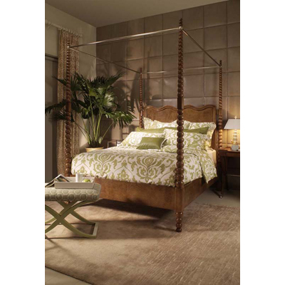 Century Poster Bed with Metal Canopy Queen