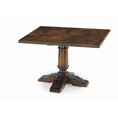 Century Square Dining Table with Copper Wrap Top