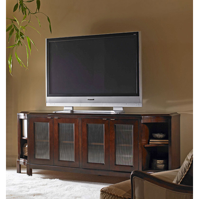 Century Glass Door Entertainment Credenza