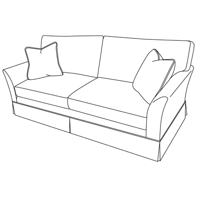 Century Brea Skirted Sofa