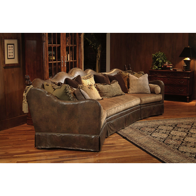 Quality Leather Living Room Furniturereclining Sofalove Seat Rustic Log Fur
