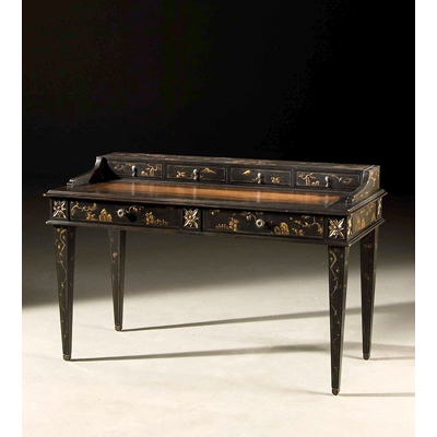 Century Waxed Chinoiserie Desk
