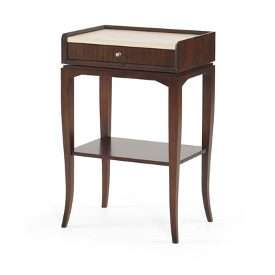 Century Alameda Removable Remote Caddy Chairside Table