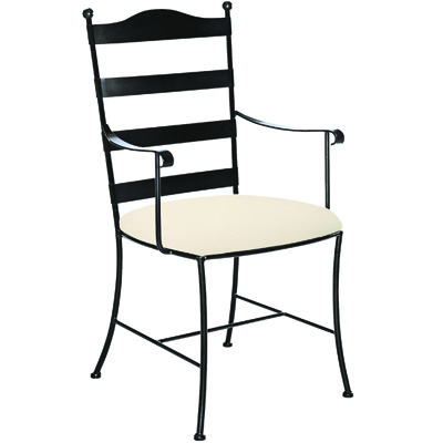 Charleston Forge Metal Ladder Back Arm Chair