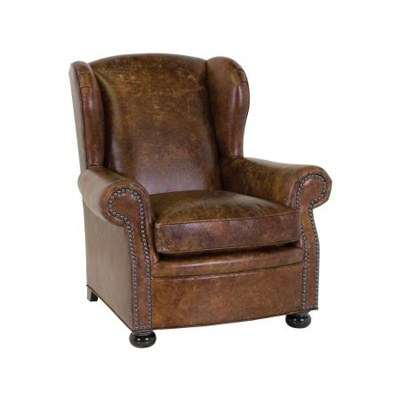 Classic Leather 117761 Classic Leather Collection Cigar Lounge Chair Discount Furniture At