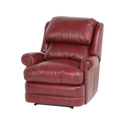 Classic Leather Bustle Back Recliner
