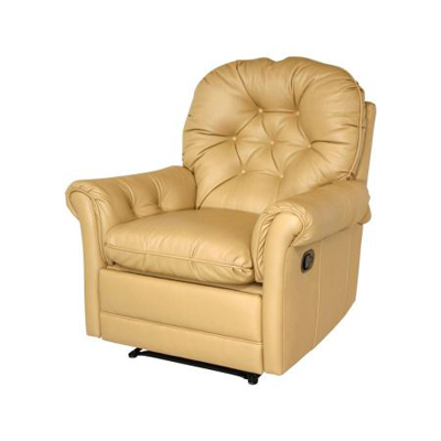 Classic Leather Crescent Recliner