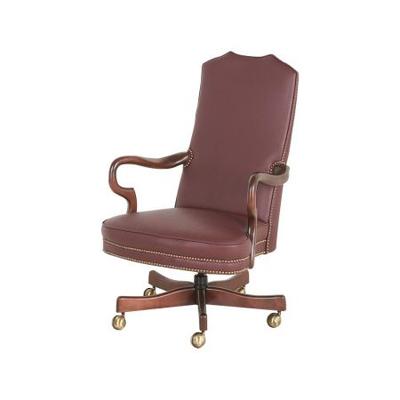 Classic Leather Goose Neck Swivel Tilt Chair