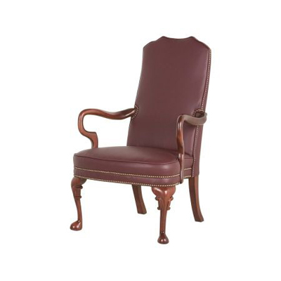 Classic Leather Goose Neck Chair