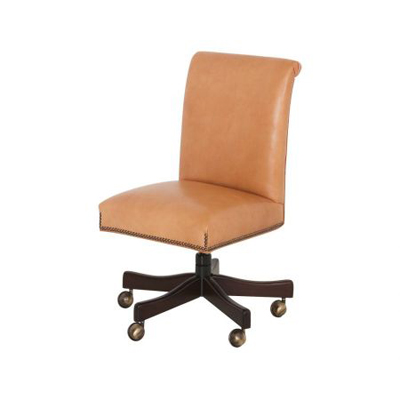 Classic Leather Kneehole Desk Chair