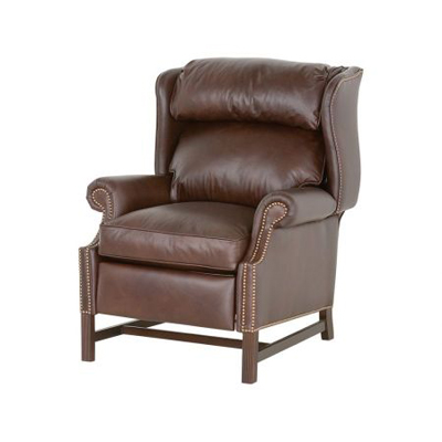 Classic Leather Chippendale High Leg Recliner
