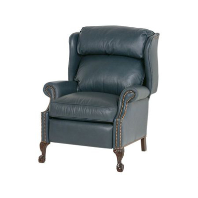 Classic Leather Ball In Claw High Leg Recliner