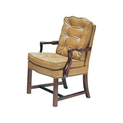 Classic Leather Semi Attached Chippendale Chair