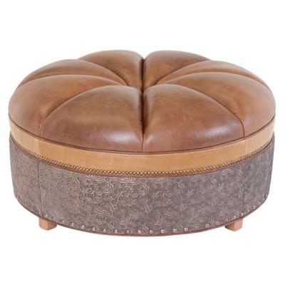 Classic Leather Candice Ottoman