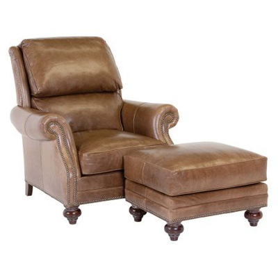 Classic Leather Chair - Ottoman