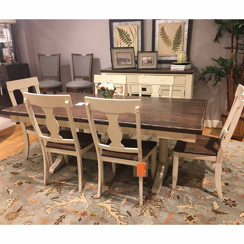 Champlain Distressed Dining Table Canadel