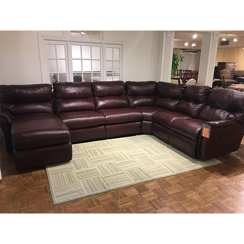 Sofas On Sale Or Clearance: Reclining Leather Sectional LA-Z-BOY 596 Lazboy Sale