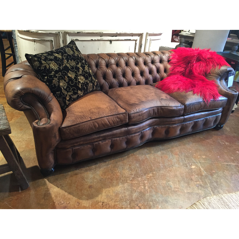 Leather Tufted Sofa 1042 03 Old Hickory Tannery Sale