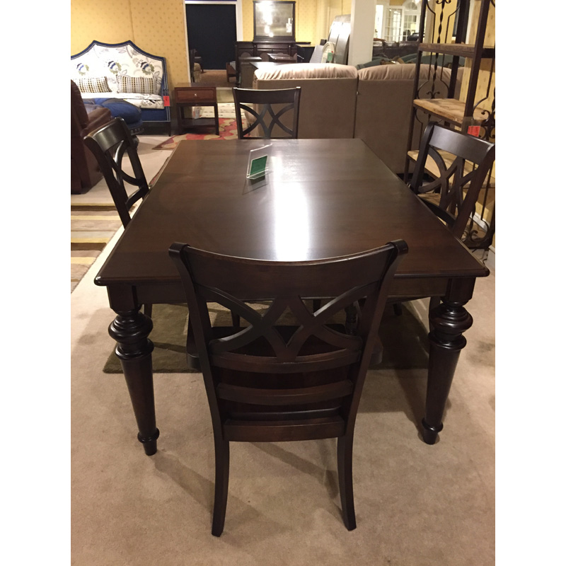 Rectangular Table And 4 Chairs 4469 76lg 4469 1000 4469 2000 Bassett Sale Hickory Park