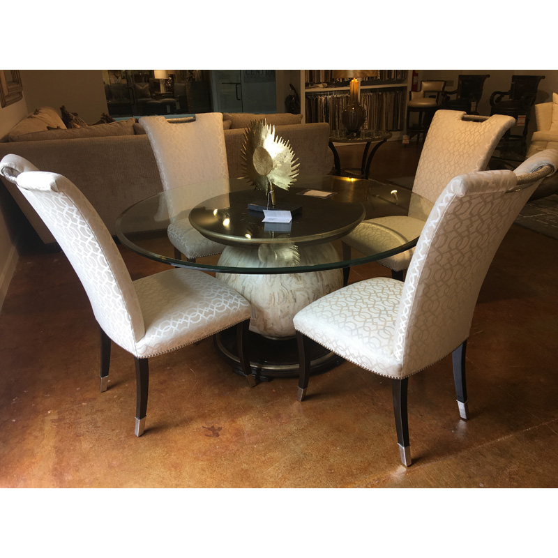 Malibu 60 inch Round Dining Table and Chairs Marge Carson