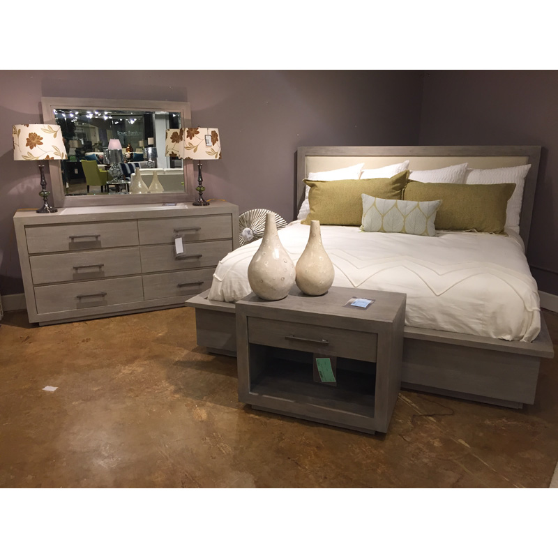 Discontinued Furniture Clearance: Berkeley Heights Upholstered King Bedroom Group 17168