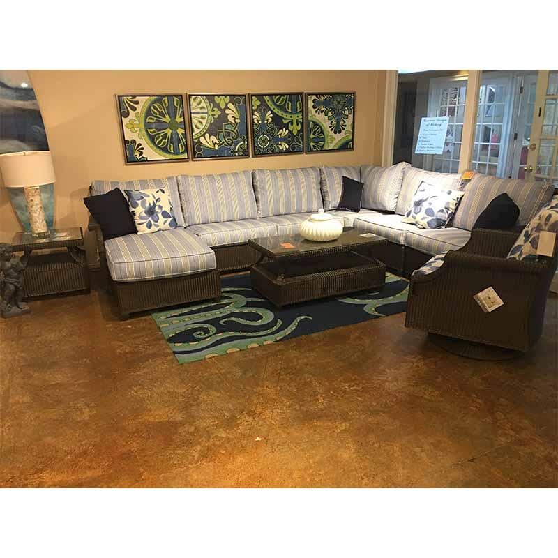 Hamptons Swivel Lounge Chair Lloyd Flanders