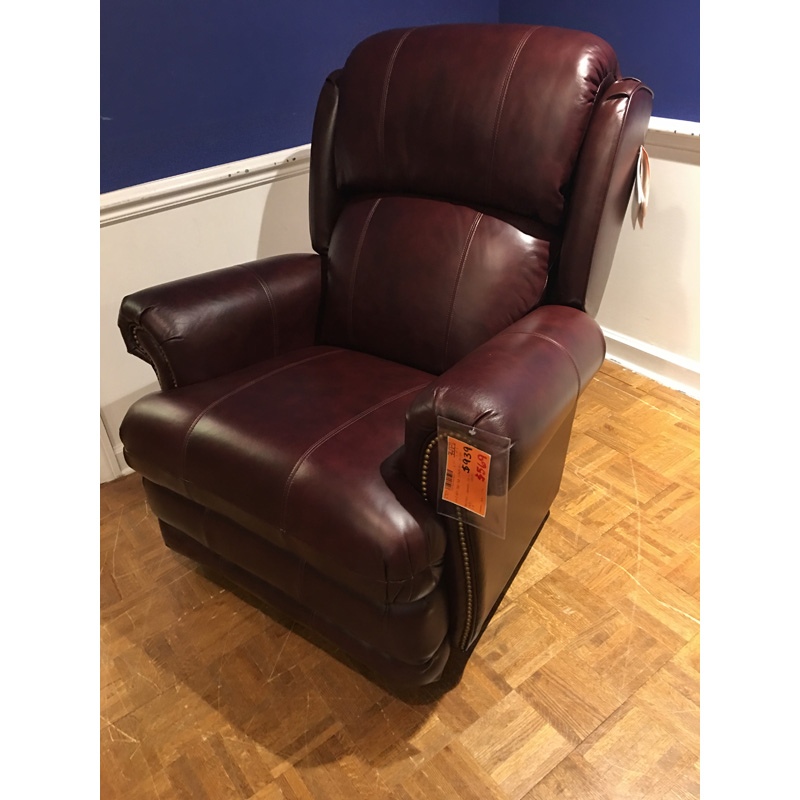 Leather Recliner Rocker 010 768 La Z Boy Sale Hickory Park