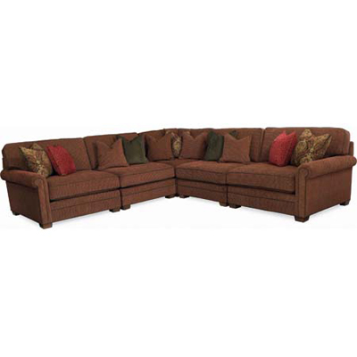 CR Laine 424 Series Andes Sectional Discount Furniture at