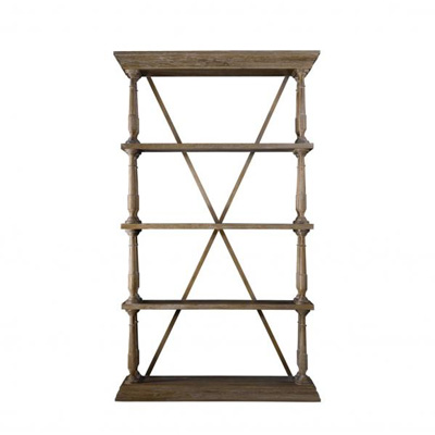 Curations Limited Natural Cross Bookshelf