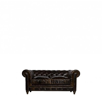 Curations Limited 77 inch Cigar Club Leather Sofa